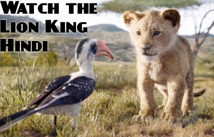 Watch The Lion King Hindi